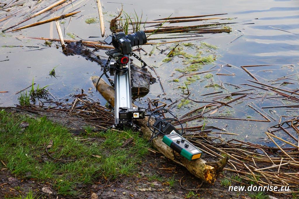 Съёмка на зактном озере